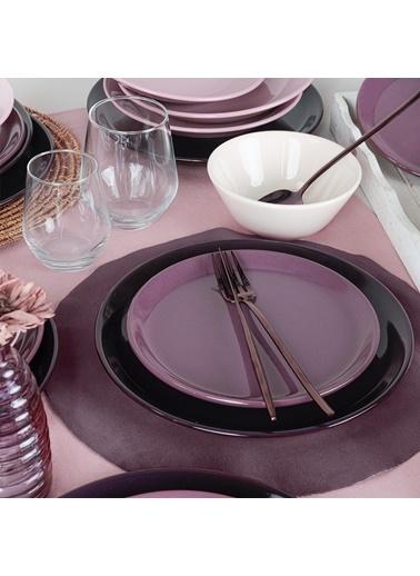 Keramika Keramika Hitit Degrade Mor Yemek Takımı 24 Parça 6 Kişilik Renkli